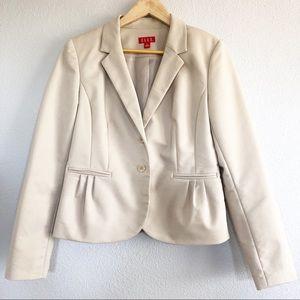 Elle Beige Blazer Jacket Sz 12